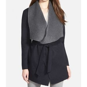 Soia & Kyo Reversible Double Face Wool Wrap Coat